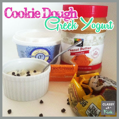 Classy with a Kick: Cookie Dough Greek Yogurt