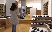 3d model interior shoestore vray