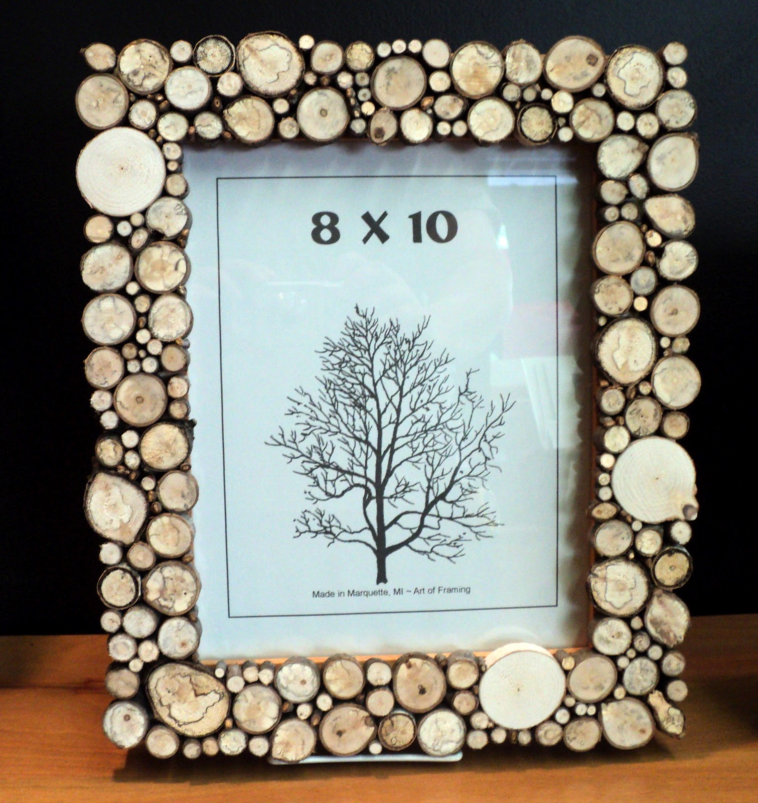 wood circle end cuts frames not your average frame