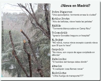 Madrid, nieve, Rajoy