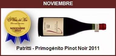 Noviembre - Primogénito Pinot Noir 2011