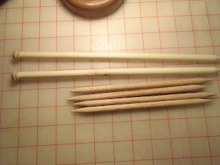 homemade knitting needles