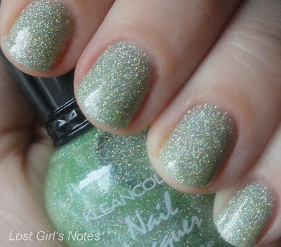 kleancolor holo green swatches and review