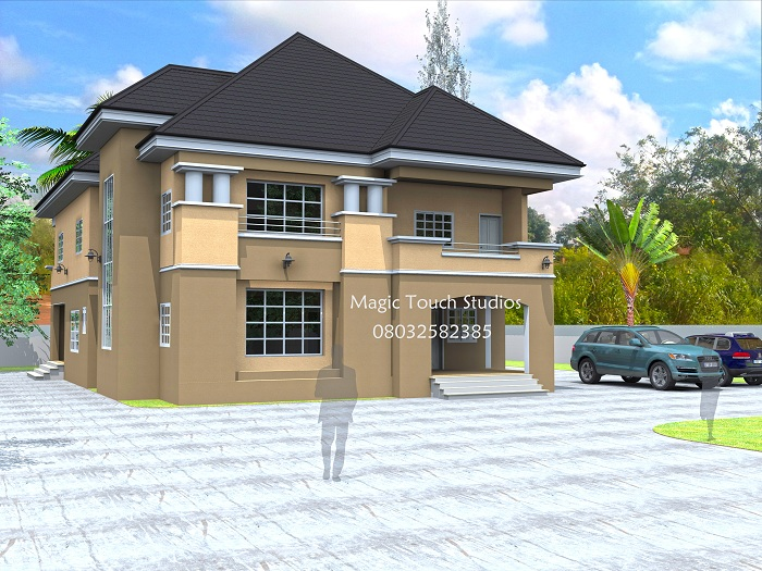 5 bedroom duplex residential homes and public designs for Bedroom designs in nigeria