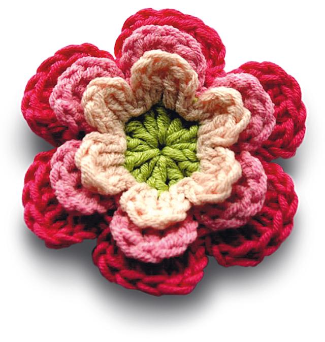Crocheting Flowers : Diva Tube: [DIY] Cute Crochet Flower