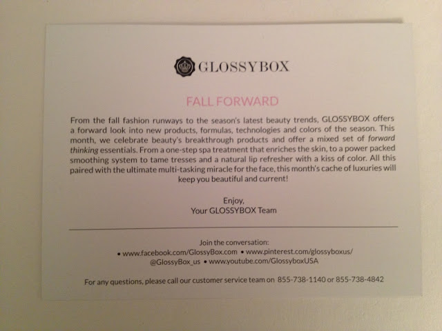 What's in My September Glossybox