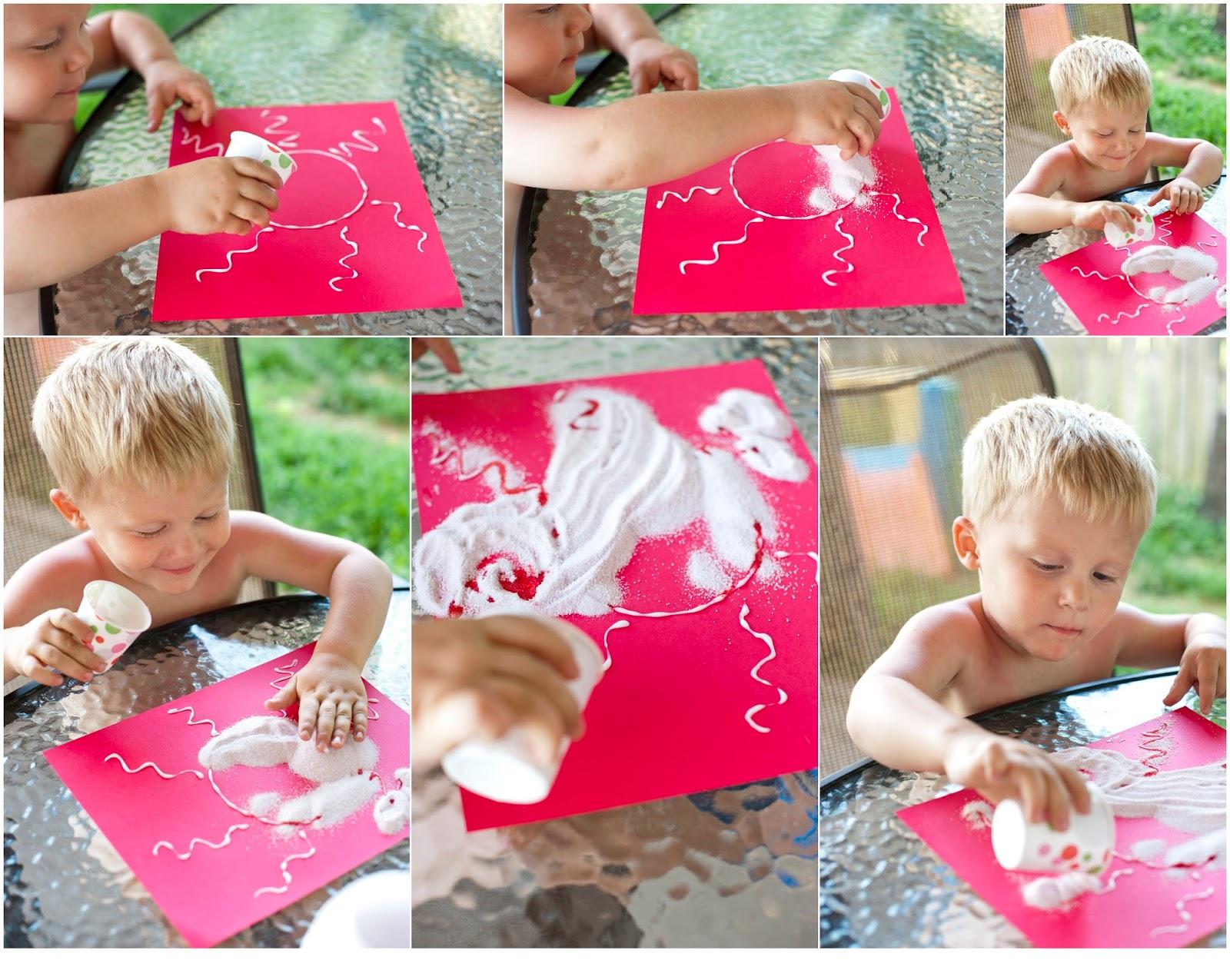 Summer play ideas - edible sparkle art