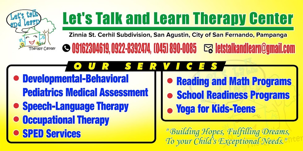 Let's Talk and Learn Therapy Center 09162304619, 09228392474