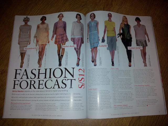 Knitting magazine trend report