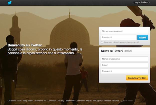Profilo Twitter Attivo
