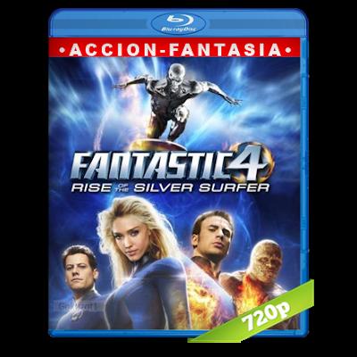 Los 4 Fantasticos 2 Y El Deslizador De Plata (2007) BRRip 720p Audio Trial Latino-Castellano-Ingles 5.1