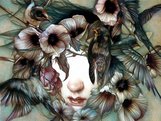 haunting beauty, art, coloured pencil, drawing, illustration, inspiration, detailed dark yet beautiful work