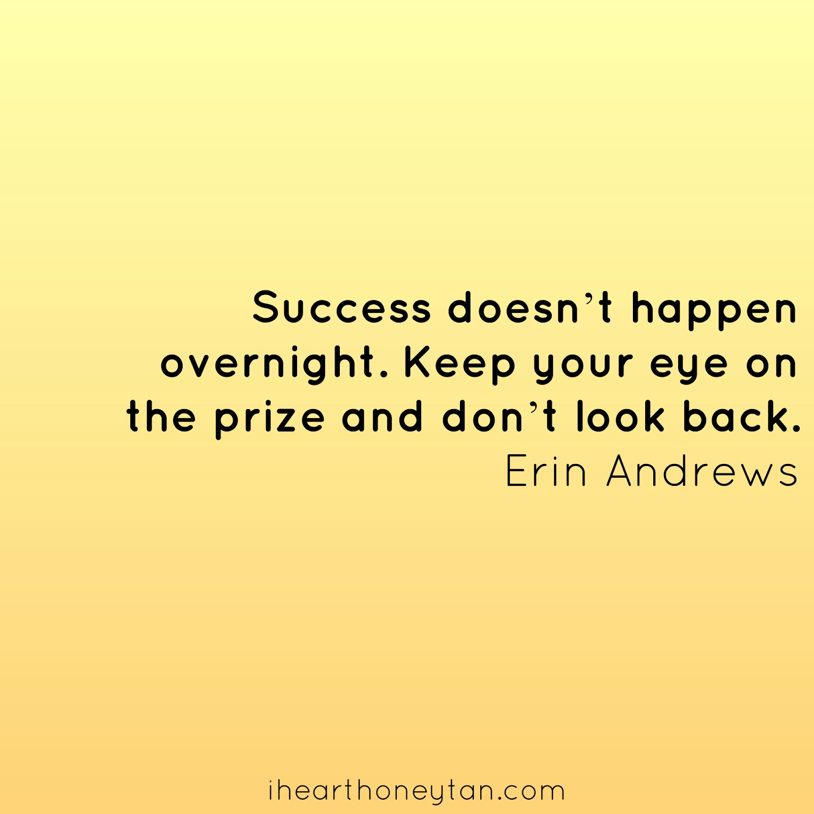 motivational success Erin Andrews quote