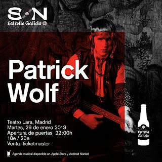 Patrick Wolf Teatro Lara Madrid 29 de Enero 2013 Sorteo de Entradas
