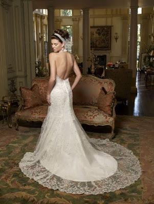 Formal Wedding Dresses White lace halter wedding dresses