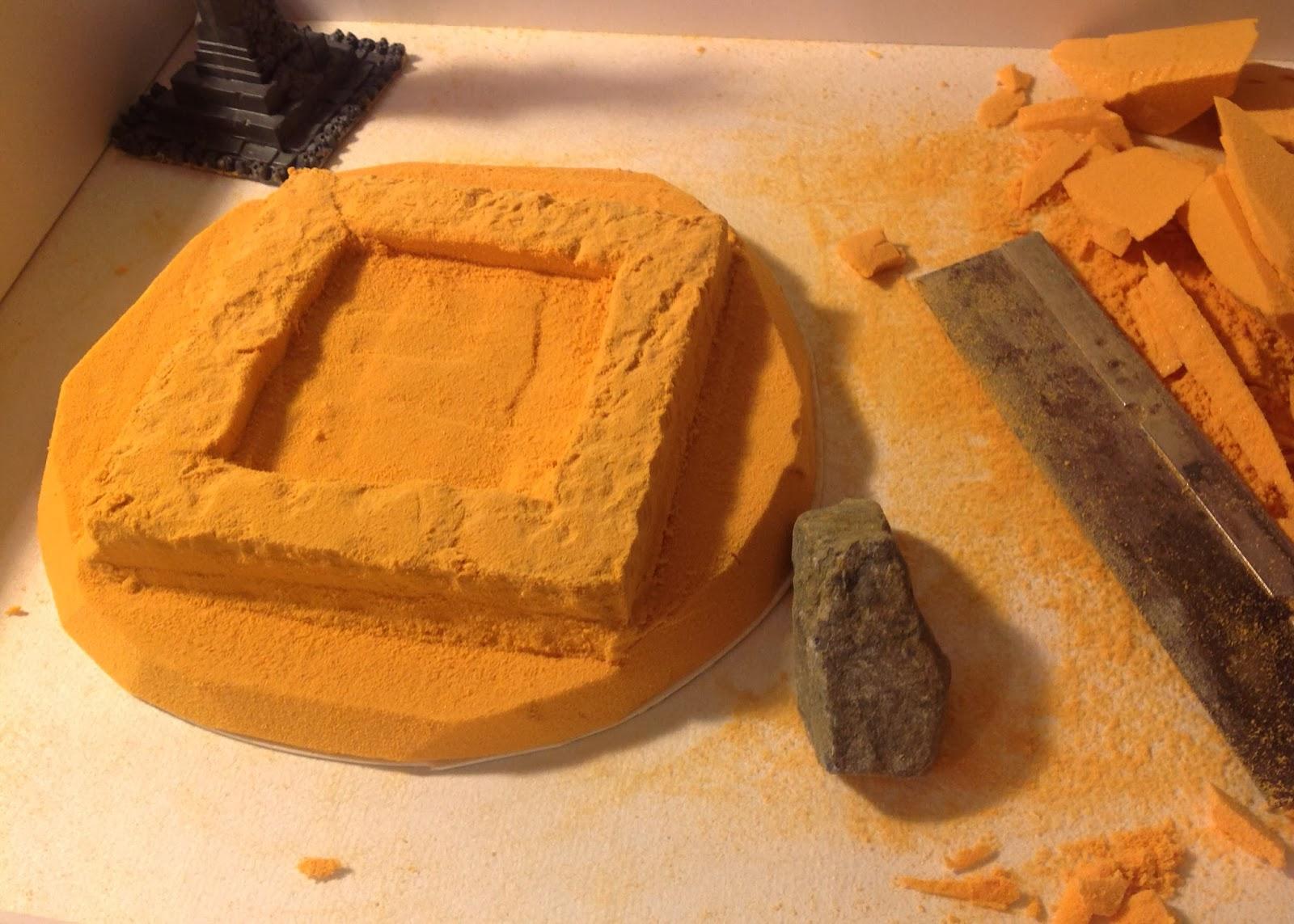 Citadel fantasy terrain enhancement with balsa foam