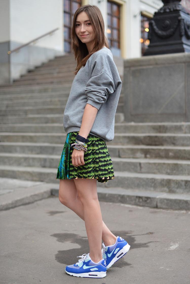 Air max и юбка