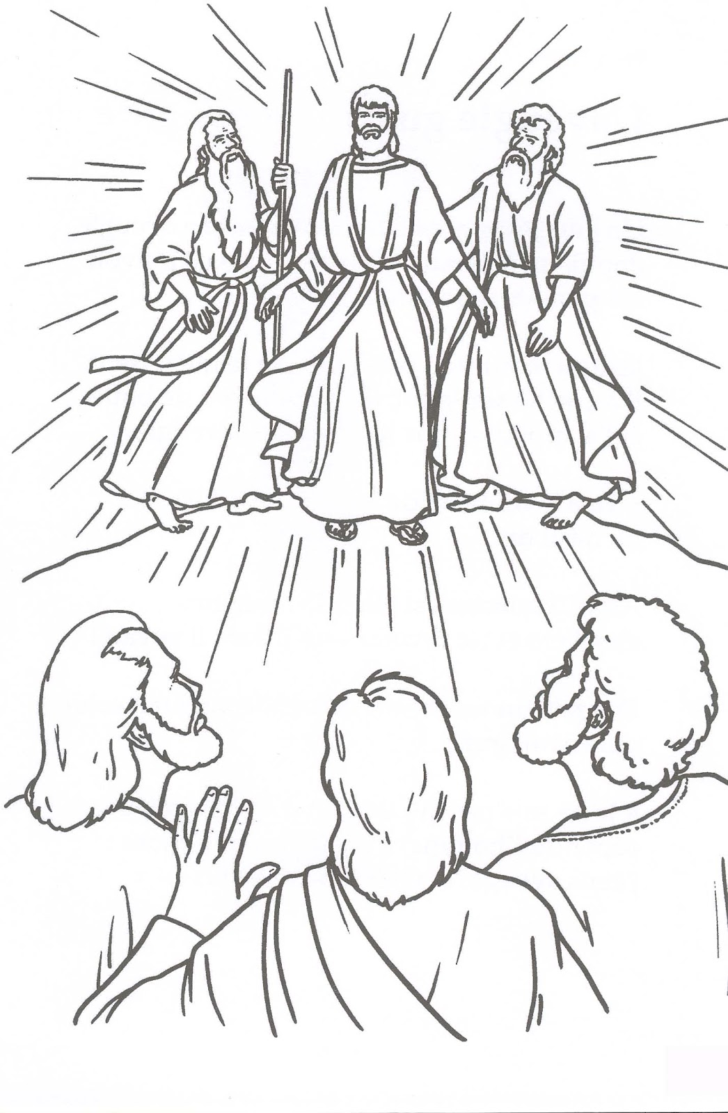 Dorable Colorear Jesús Transfiguración Elaboración - Dibujos Para ...