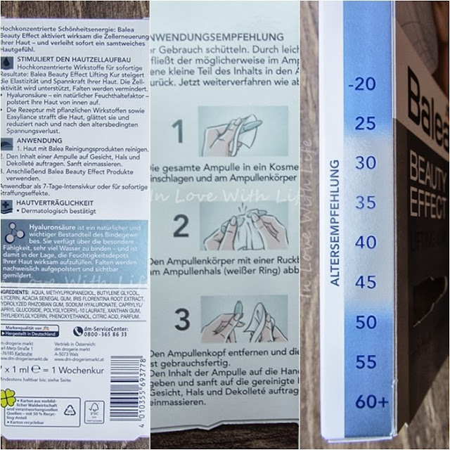 Balea Beauty Effect Lifting Kur und Eye Lift Serum