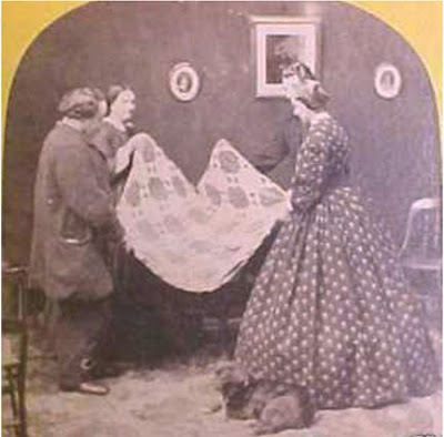 1860's quilt with 2 couples