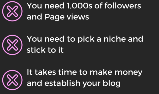 myths about building a successful blog