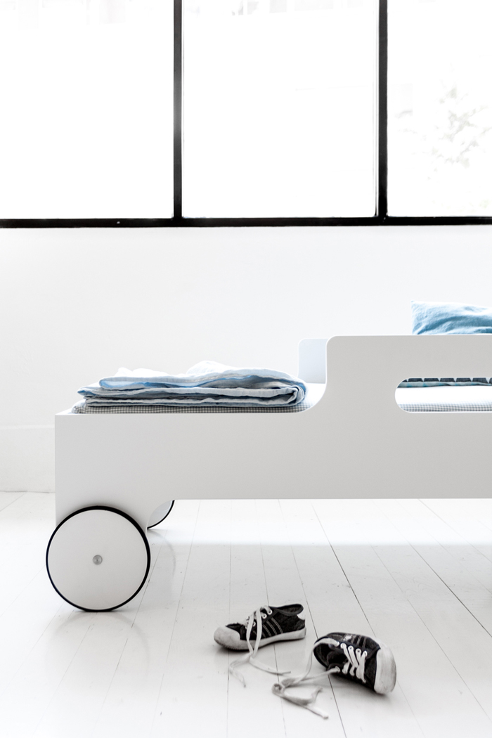 white toddler bed from rafa-kids limited edition