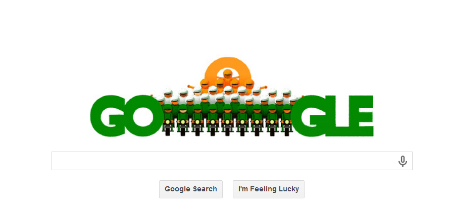Popular Search Engine Google always dedicates a special Google doodle on every special occasion . One of the important day of our country is Republic Day. So Google launched new special Google day for the Republic Day  . The Google doodle can be seen in the homepage of Google .  The following is the Google Doodle on the occasion of Independence Day