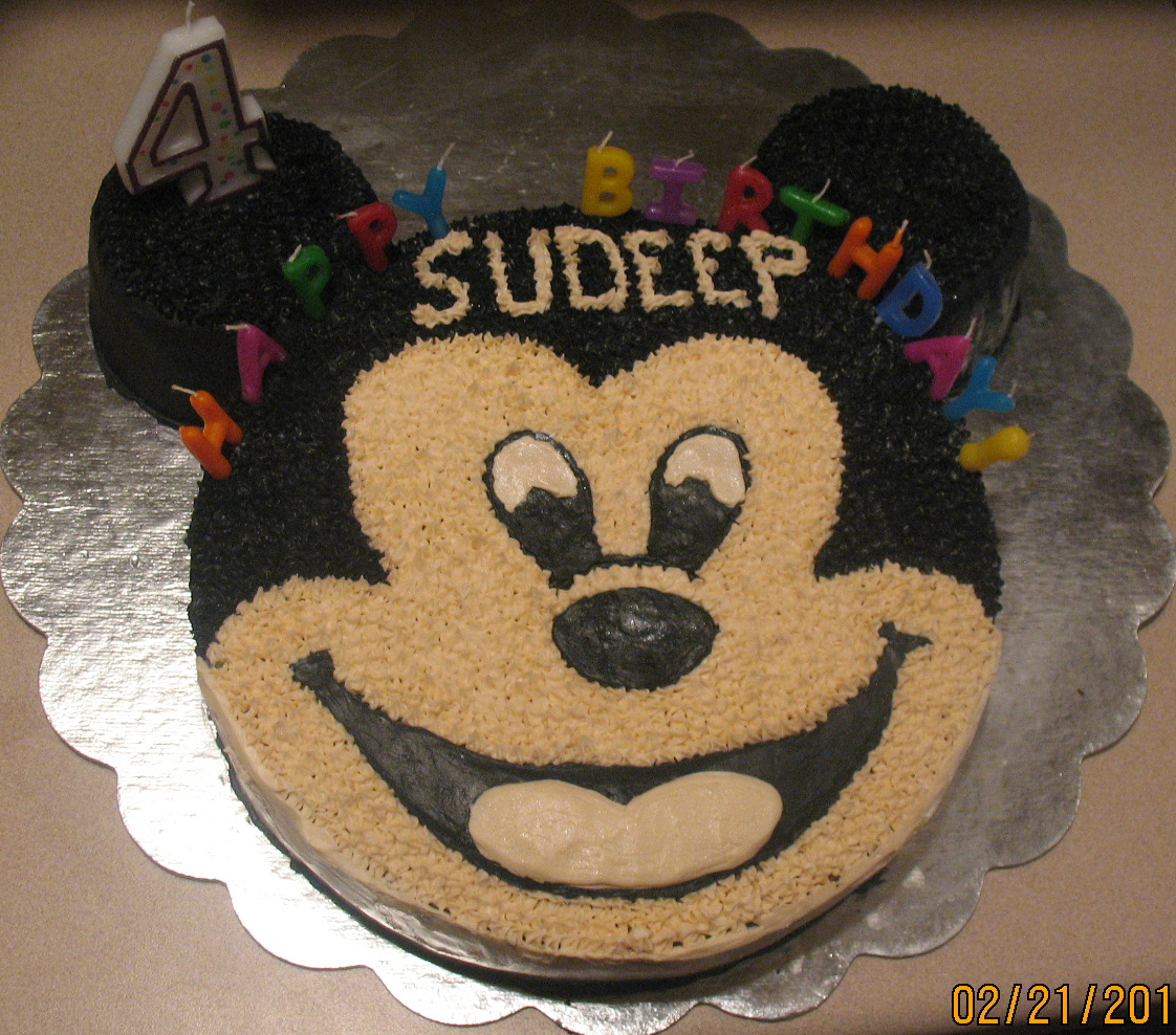 Mickey Mouse Cream Cake Images : ANU S HEALTHY KITCHEN .....Keep It Healthy Always...