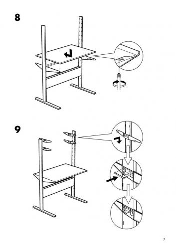 ikea bekant desk instructions