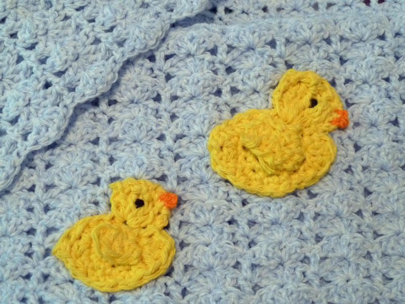Snoopys Homemade Fun: RUBBER DUCKY CROCHETED BABY BLANKET