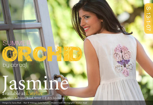 Abraaj Summer Orchid Collection 2013-2014 For Womens And Girls By Fashiopn She9