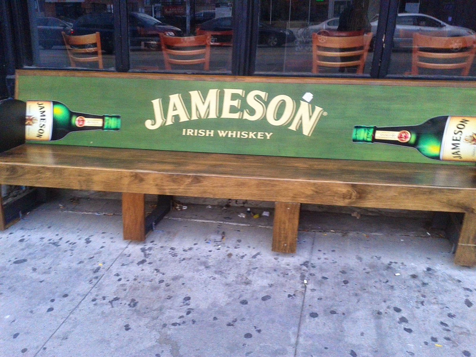 Jameson Irish Whiskey bench