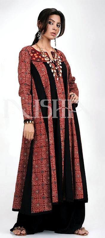 Unique SIndhi Embroidery Dress Collection 2013  Pakistan Trend