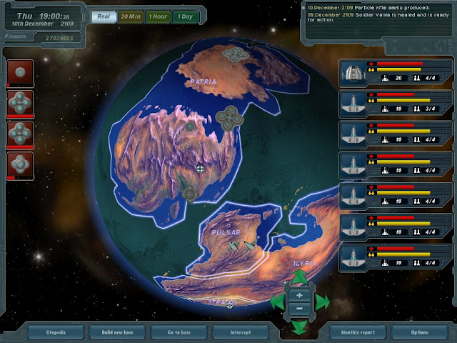 UFO: Extraterrestrials - Globe Screenshot.