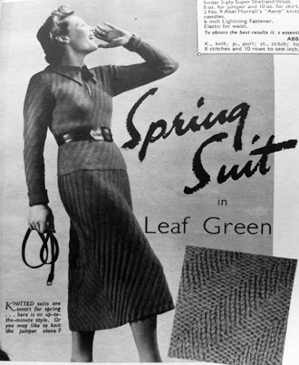 The Vintage Pattern Files: Free 1930's Knitting Pattern - Spring Suit
