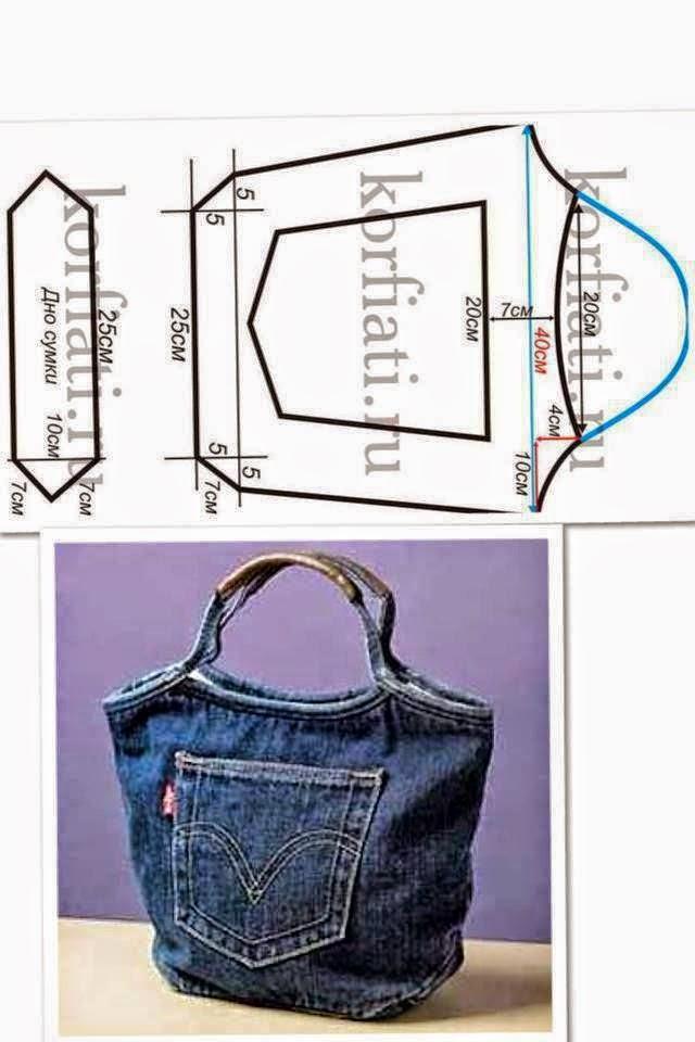 bolsa feita de calça jeans