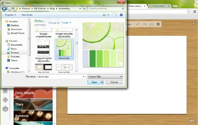 Add your own image overlay to match colors in PicMonkey.