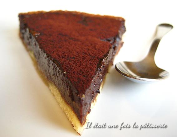 Tarte au chocolat ganache fondante et pâte croustillante