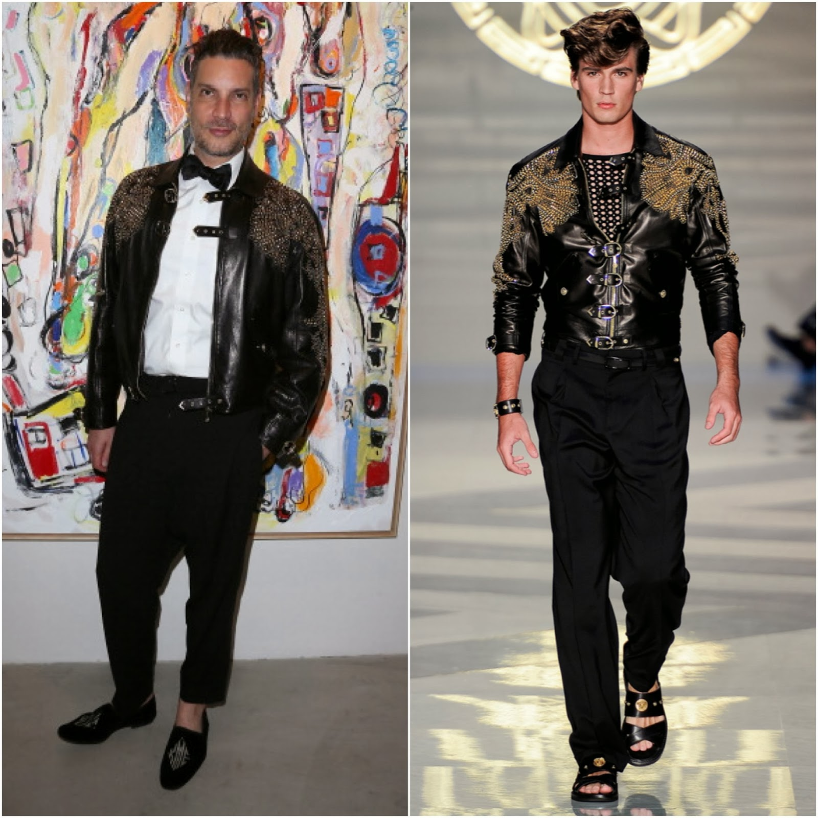 Cameron Silver in Versace - Alexander Yulish 'An Unquiet Mind' Opening Reception