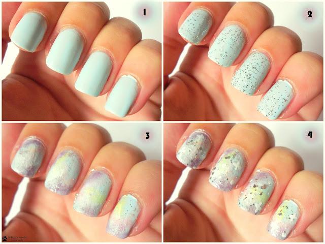 Pastell Galaxy Nails Nailart Tutorial