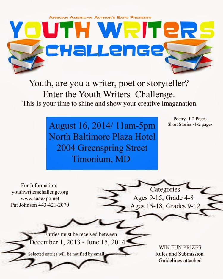 2014 Youth Writer's Challenge - Guidelines