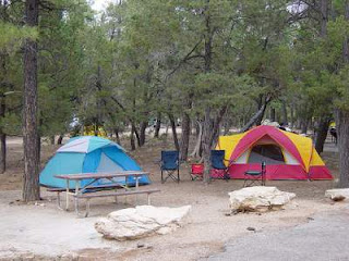 campsite in a campground