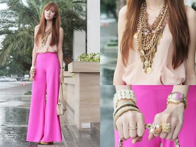 moda pantalones rosas