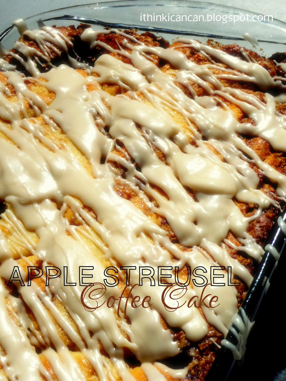 {I Think I Can} Apple Streusel Coffee Cake