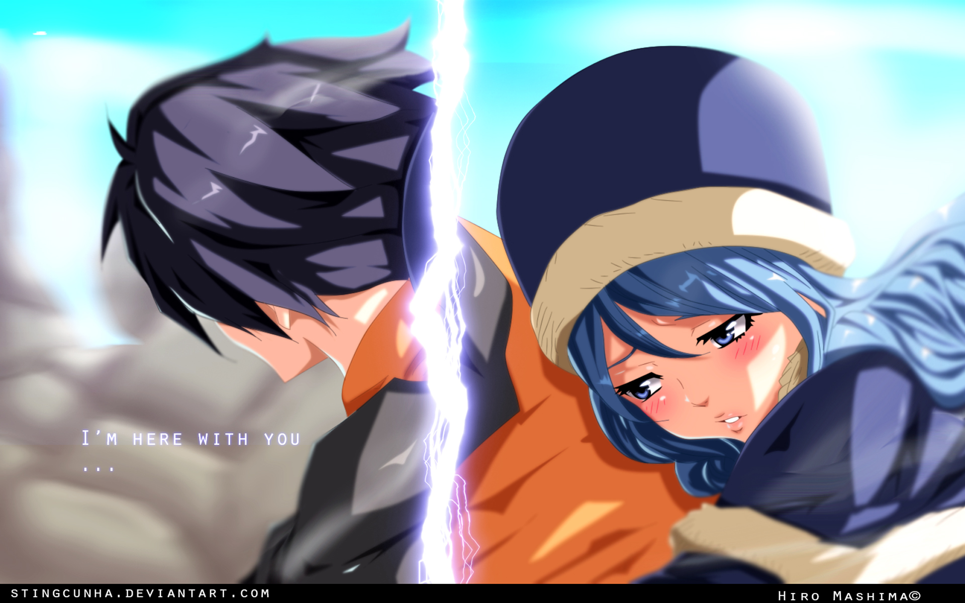 gray and juvia 4z wallpaper hd