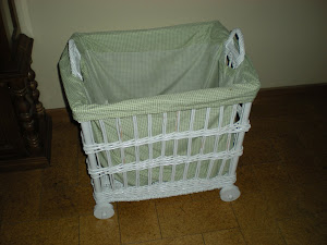 White Wicker Toy Chest