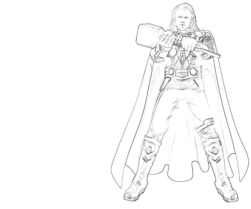 Free how to draw thor coloring pages