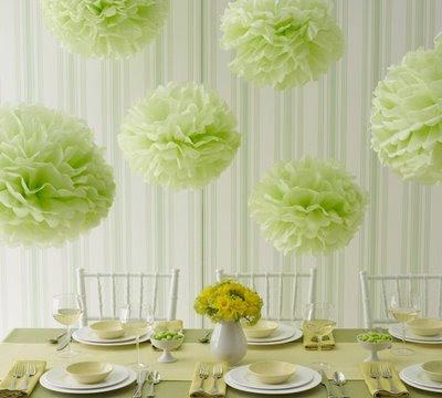Green wedding decorations centerpieces
