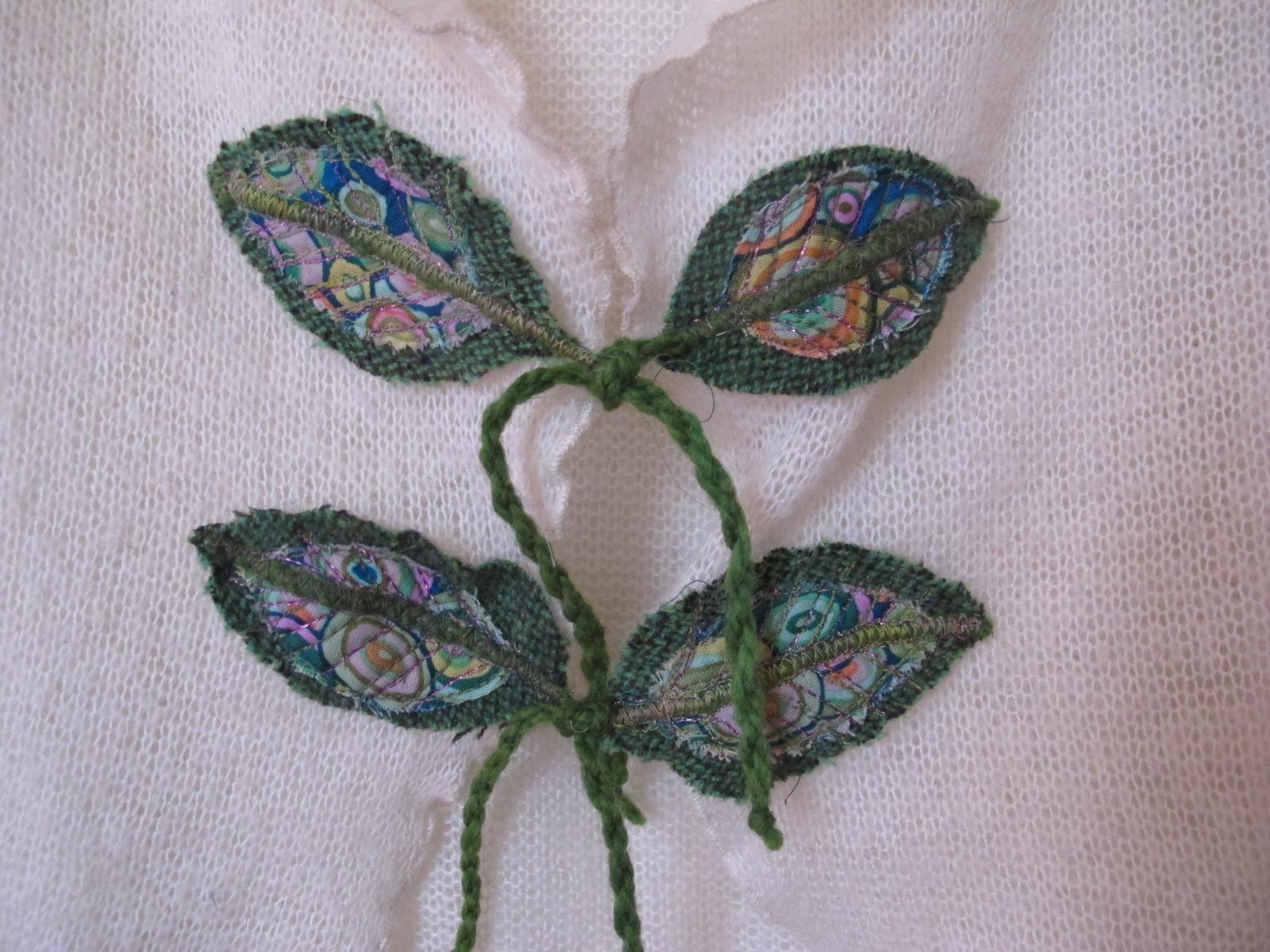 hebras de lana, tela de algodón y quilteadas con hilos metalizados ...