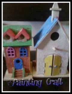 Easy Painting Wooden Houses Craft